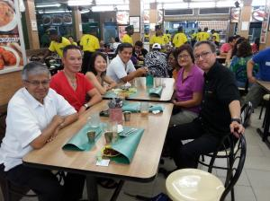 From left: Tony, Jeff, Suhaily, Yew Loong, myself, Helen and Philip