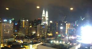 A section of the Kuala Lumpur night skyline