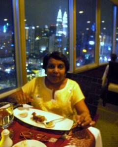 Mabel at the Bintang Revolving Restaurant