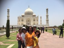 Our happy group at the Taj Mahal. -- Pic by tour guide