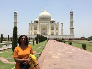 Myself at the Taj Mahal