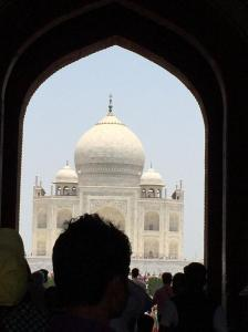 My favourite view of the Taj Mahal. -- All pix by Gertrude Pereira