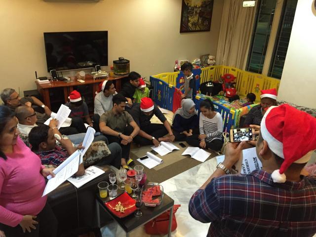 Christmas at Priya's place 2015